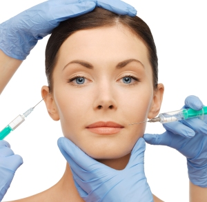 woman getting dermall fillers injection