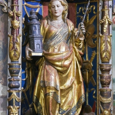 Saint Barbara In The Old Cathedral Of Salamanca